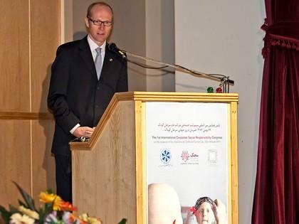همایش CSR در محک دانیل برنبک مدیر عامل اتاق بازرگانی ایران و آلمان