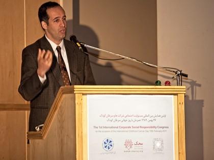 همایش CSR در محک مهندس شریف نظام مافی مدیر عامل شرکت بولر ایران